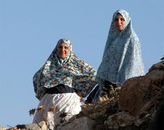 Veiled Ladies in blue - Shoafat, West Bank