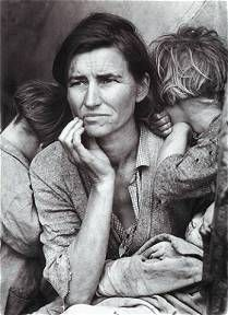 Dorthea Lange's Migrant Mother 1936  Oklahoma Dust Bowl
