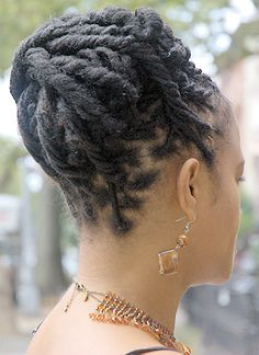 Natural Locs Hairstyle - Back View 6