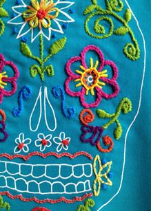 Sewing and Craft Classes and cool fabric in Austin at the Stitch Lab handmad craft, skull, stitch lab, craft class
