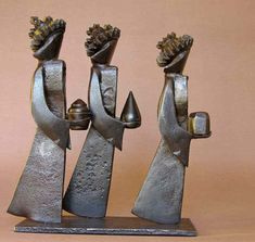 """Les rois mages"" by French sculptor Jean-Pierre Augier."