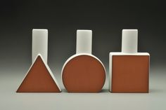 Triangle Bottle, Eshelman pottery