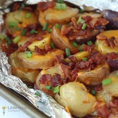 These CHEESY Grilled Potatoes with Bacon are the ultimate side dish!