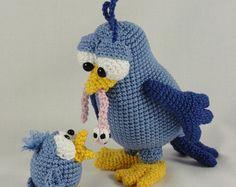 Amigurumi Crochet Pattern - Burton and Bertie the Birds