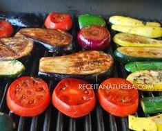 Legumes na Brasa Low Carb Paleo, Waffle, Kefir, Grill Pan, Eggplant, Zucchini, Sausage, Grilling, Vegetables