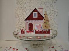 Valentine's Day Putz House on Etsy, $45.00