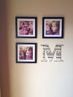 Newborn photo wall