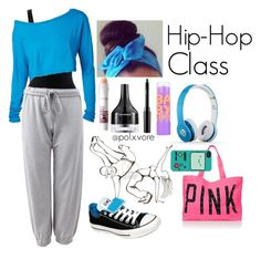 """Hip-Hop"" by iheartapplejuice on Polyvore featuring Victoria's Secret PINK, iHeart, Forever 21, Converse, Sephora Collection, Maybelline and Beats by Dr. Dre"