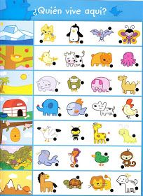 Crafts,Actvities and Worksheets for Preschool,Toddler and Kindergarten.Lots of worksheets and coloring pages. Animal Worksheets, Kindergarten Worksheets, Worksheets For Kids, Learning Activities, Preschool Activities, Animal Habitats, Kindergarten Crafts, Tot School, Speech And Language