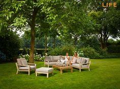 Lounge set Timber Teak   Garden Furniture Collection   LIFE Outdoor Living Teak Garden Furniture, Furniture Repair, Modern Furniture, Outdoor Furniture Sets, Outdoor Decor, Garden Sofa Set, Dream Garden, Furniture Collection, Lounge