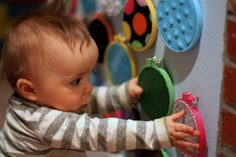 sensoryboard for babies, baby toy idea that is fun and affordable!