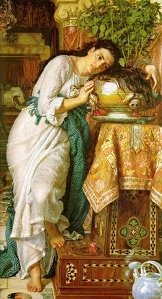 William Holman Hunt Isabella and the Pot of Basil art painting for sale; Shop your favorite William Holman Hunt Isabella and the Pot of Basil painting on canvas or frame at discount price. Dante Gabriel Rossetti, John Everett Millais, Art Gallery, National Gallery Of Art, Painting Gallery, Pre Raphaelite Paintings, Pre Raphaelite Brotherhood, John William Waterhouse, Tate Britain