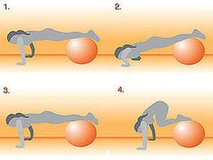 Get on the Ball: Push-Up With Tuck Crunch. Need a ball again...