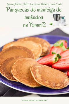 Receita de Panquecas de Manteiga de amêndoa na Yammi2 Sin Gluten, Waffles Paleo, Pancakes, Cooking, Breakfast, Sweet Ideas, Cross Stitch, Food, No Flour Pancakes