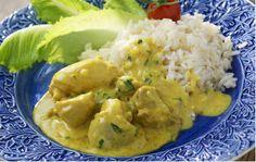 Currykyckling med ris