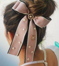 Hair Ribbons, Hair Bows, Cute Bows, Headbands, How To Wear, Ideas, Fashion, Barrette, Bow Buns