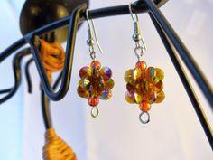 http://www.tibadesign.com Tiba Design: Boucles d'oreilles de Anh orange