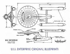 Star Trek LCARS Blueprint Database - Star Trek Blueprints: U.S.S. Enterprise Space Cruiser