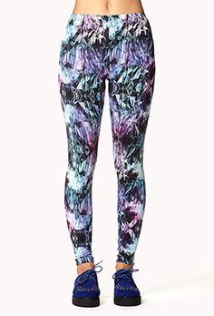 Crystal Print Leggings | FOREVER 21 - must get my hands on these