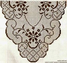 Kira crochet: Scheme no. Granny Square Crochet Pattern, Crochet Stitches Patterns, Thread Crochet, Crochet Motif, Crochet Doilies, Crochet Flowers, Stitch Patterns, Knit Crochet, Crochet Table Runner