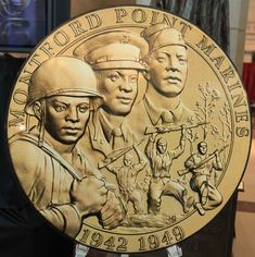 With video: Montford Point Marines -- segregated during World War II . American Coins, American Soldiers, American Indians, Usmc, Marines, Indiana, African American History, History Facts, Military History