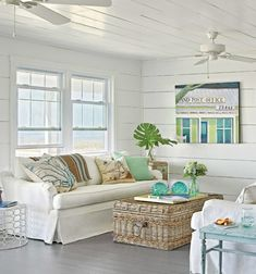 14 great beach themed living room ideas beach themed rooms seaside cottages and coastal cottage. Black Bedroom Furniture Sets. Home Design Ideas