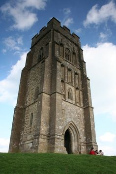 St. Michael's Tower at the top of Glastonbury Tor, England