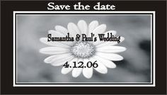 Save the Date Magnets Black White