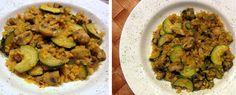 Linsen-Pfanne mit Pilzen und Zucchini
