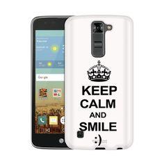 LG K8 KEEP CALM and Smile on White Slim Case