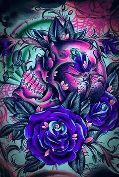 Sugar skull art                                                                                                                                                                                 More