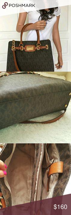 364cbeaa7d5a ☇Michael Kors MK☇Hamilton leather purse Handbag 100% Authentic Michael Kors  Hamilton Signature