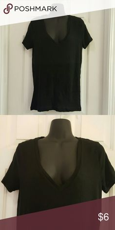 JCREW Vintage Cotton V Neck Tee JCREW Vintage Cotton V Neck Tee in Black.  100% Cotton. Gently worn. Length from shoulder to hem is approx 26 inches. J. Crew Factory Tops Tees - Short Sleeve
