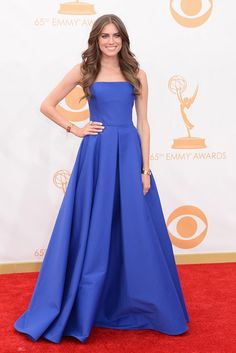 Alison Williams in Ralph Lauren at the 65th Annual Emmy Awards