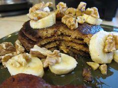 Banana Walnut Pancakes #justeatrealfood #simplylivinghealthy