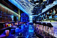 Ozone in HK Highest bar in the world overseeing the Victoria Harbour, guests can indulge themselves with signature cocktails and an exotic selection of Asian tapas while enjoying DJ beats. Price range USD 51-80.