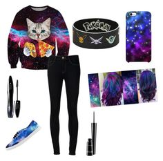"""""""Galaxyy"""" by yepers on Polyvore featuring Chicnova Fashion, Ström, Uncommon, Vans, Lancôme and MAC Cosmetics"""
