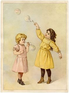Darling Vintage Bubbles Image! - The Graphics Fairy