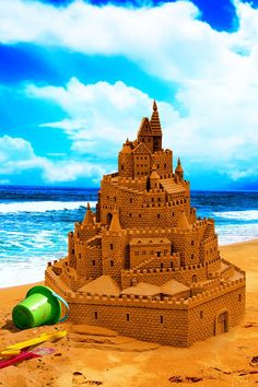 i've always wanted to make a sandcastle like this but it never turns out