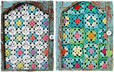 Love the use of chunkier gauge crochet as a window covering {The Yarn Over List - Yarn Delights} Crochet Eyes, Crochet Home, Love Crochet, Crochet Gifts, Knit Crochet, Granny Square Crochet Pattern, Crochet Patterns, Crochet Furniture, Yarn Stash