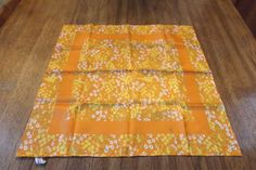 Japaneses Vintage Baar & Beards women neck scarf with tag,polyester ,square scarf. Designers. Excellent new condition. Hand rolled . Orange floral. 21x 21. Never used old stock women scarf.Private collection.  Have a question? Please feel free to email us. Combine shipping automatically(50% off for second item). Please see pictures, they are part of description. I send immediately, pack carefully. I did my best to make sure my listing is accurate and complete. If you find any inaccurate i...