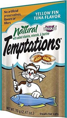 TEMPTATIONS Natural Treats for Cats Yellowfin Tuna Flavor 2.47 Ounces Pack of 12 #Temptations