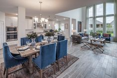 Is the formal dining room dead? It's complicated Living Room Kitchen, Dining Room, Highland Homes, Wood Look Tile, Waterproof Flooring, Formal Living Rooms, Model Homes, House Prices, Home Buying
