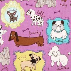 purple dogs dachshund dalmatian fabric by Robert Kaufman (per 0.5m multiple) by Robert Kaufman, http://www.amazon.com/dp/B00DFXEUE6/ref=cm_sw_r_pi_dp_eDnpsb04NZ7TT