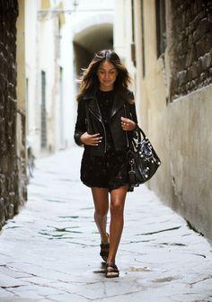 Leather jacket outfits / Pomysły na skórzaną ramoneskę #leatherjacket #jacket #outfits #spring #fashion