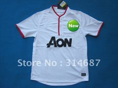 wholesale 12/13 TOP Thailand quality united away white soccer jerseys,Soccer tops,embroidered logo,Dry-Fit on AliExpress.com. $95.00