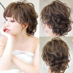 789 Likes, 5 Comments - hairset kimono rental dressing ( on. Hair Design For Wedding, Wedding Party Hair, Wedding Hair Pins, Wedding Dresses, Simple Wedding Hairstyles, Party Hairstyles, Bride Hairstyles, Bridal Hair And Makeup, Hair Makeup