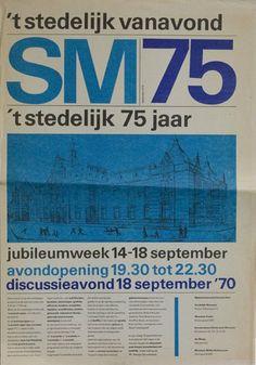 """""""SM 75"""" Stedelijk Museum 75 years Program, Stedelijk Museum Amsterdam, 1970"""