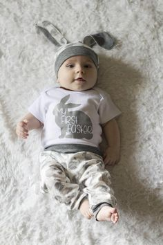 faea451e9 My First Easter Outfit, Baby Boy Easter, Bunny Rabbit Easter Set, Gray Grey
