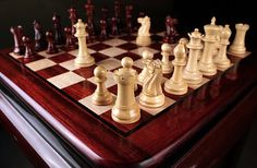 Make these elegantly crafted wooden chess pieces the showstopper of your indoor gathering. Shop chess sets at flat 30% off -> http://www.chessbazaar.com/